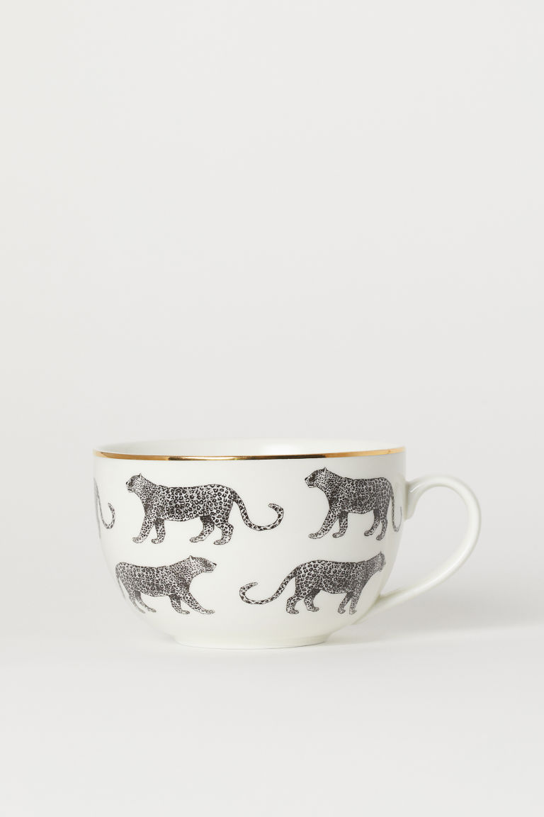 Porcelain Cup - White/leopards - Home All | H&M US