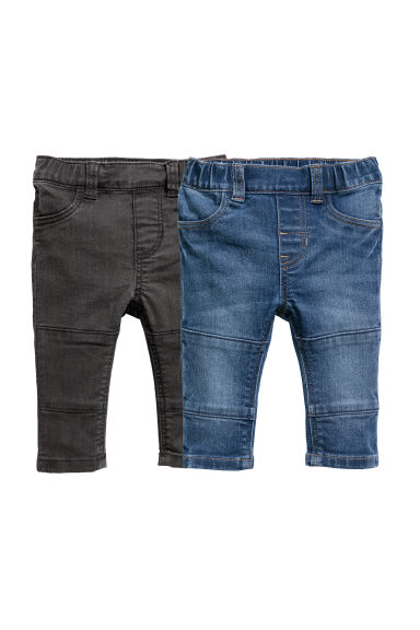 2-pack denim leggings - Denim blue/Black - Kids | H&M CN