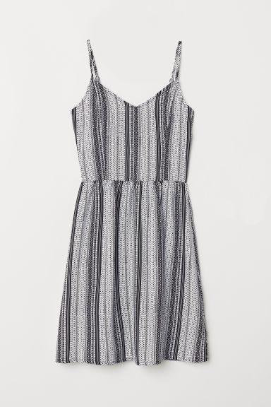 Short dress - White/Black patterned - Ladies | H&M