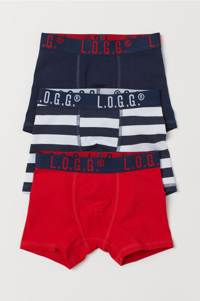 6b00a7172e5b 3-pack boxer shorts - Red/Striped - Kids | H&M 1