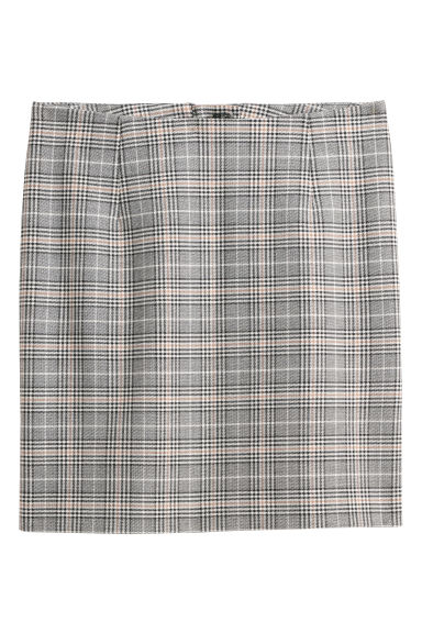 Checked skirt - Black/Checked -  | H&M IE