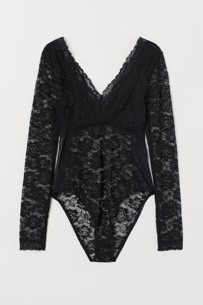 H&M - Long-sleeved lace body - 4