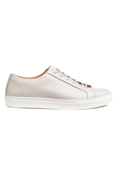 Leather trainers - Light mole - Men | H&M CN