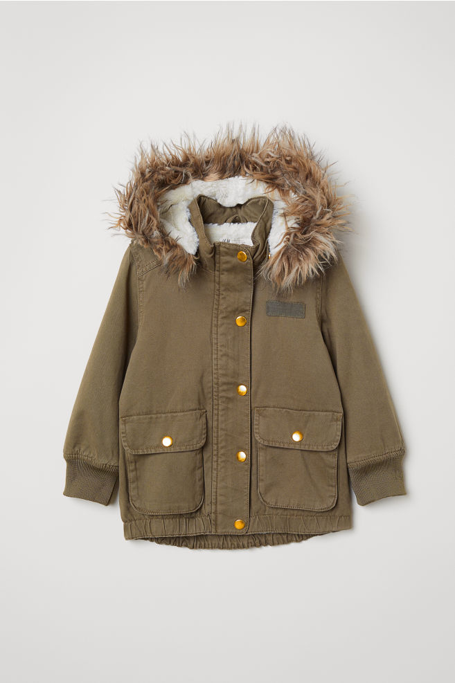 4ff1b0c4ca6c Parka with a hood - Khaki green - Kids