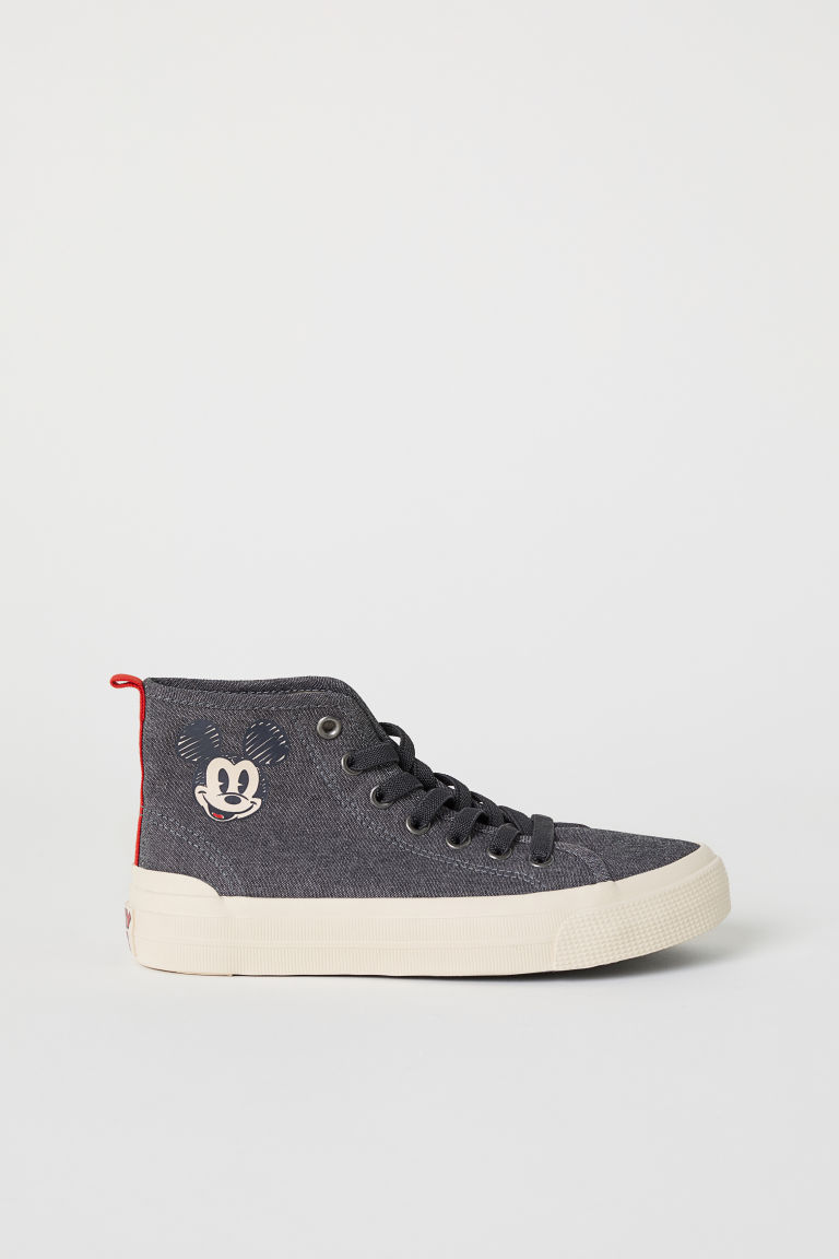 Hi-top trainers - Dark grey/Mickey Mouse -  | H&M CN