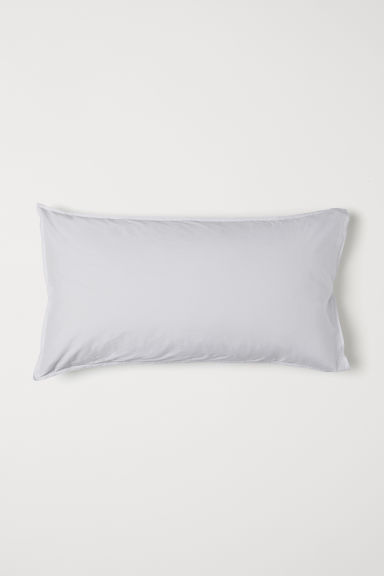 Washed cotton pillowcase - Light grey - Home All | H&M GB