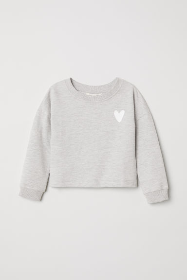 Korte sweater - Grijs gemêleerd -  | H&M BE