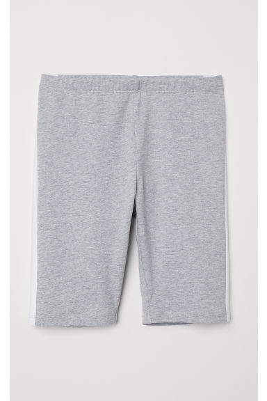 Short cycling shorts - Grey marl/White -  | H&M