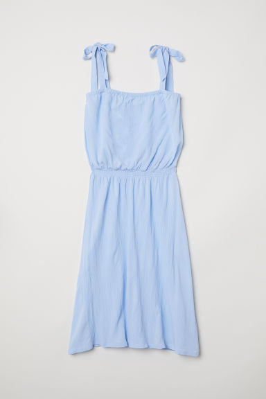 Sleeveless dress - Light blue - Ladies | H&M CN