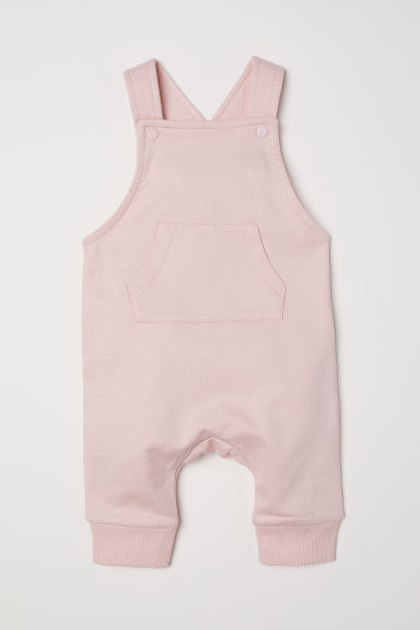 Cotton dungarees - Light pink - Kids | H&M GB 1