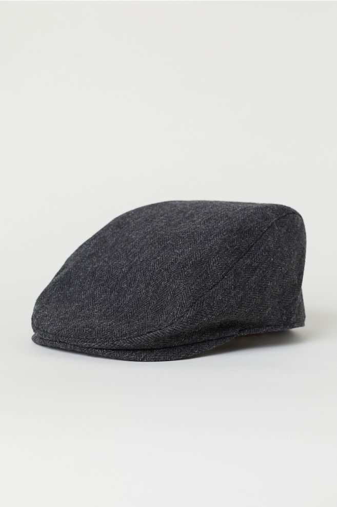 98c713ff Wool-blend flat cap - Dark grey marl - Men | H&M ...