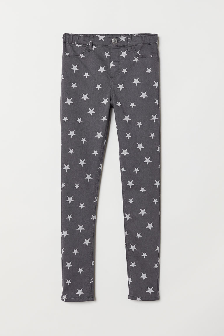 Treggings - Dark grey/Stars - Kids | H&M CN