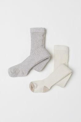 be8def51cd7e6 Ponožky a pančuchy pre bábätká – iba pre bábätká   H&M SK
