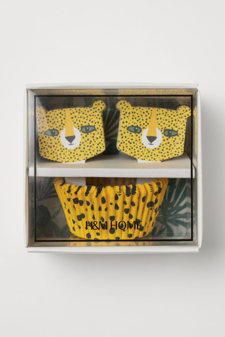 Muffin Set - Yellow/cheetah - Home All | H&M US