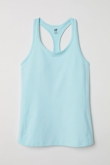 Sports vest top - Light turquoise - Ladies | H&M