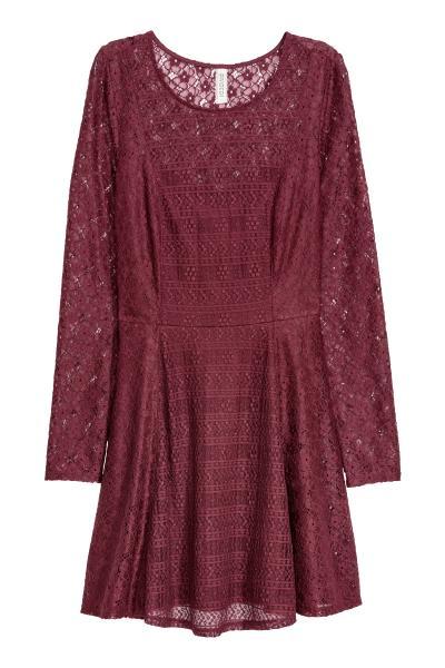 873cbfde518caa Kanten jurk - Bordeauxrood -