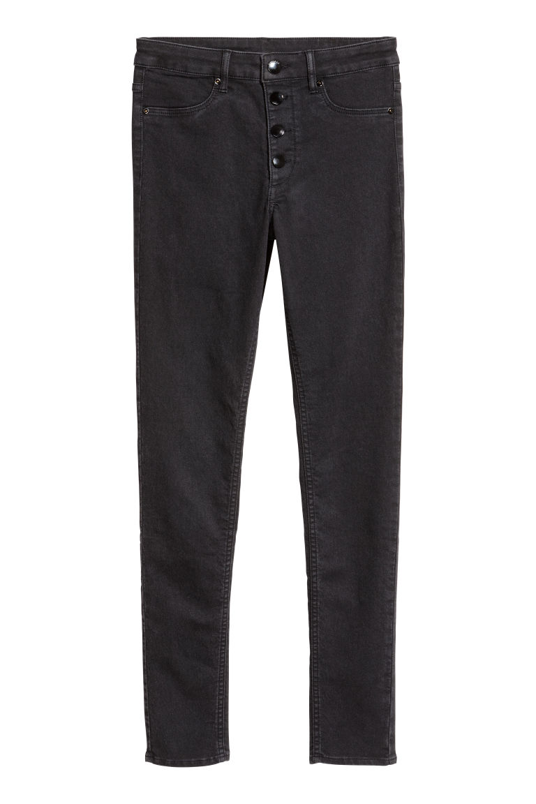 Slim Regular Jeans - Zwart - DAMES | H&M BE