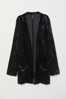 H&M+ Crushed-velvet Jacket