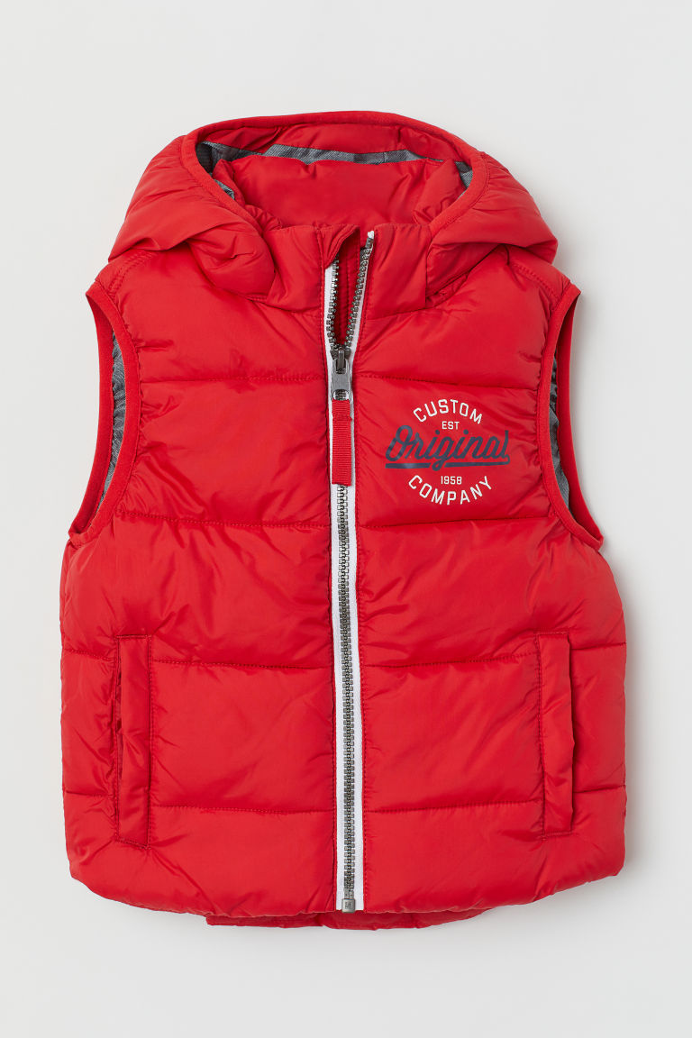 Padded gilet - Red - Kids | H&M GB