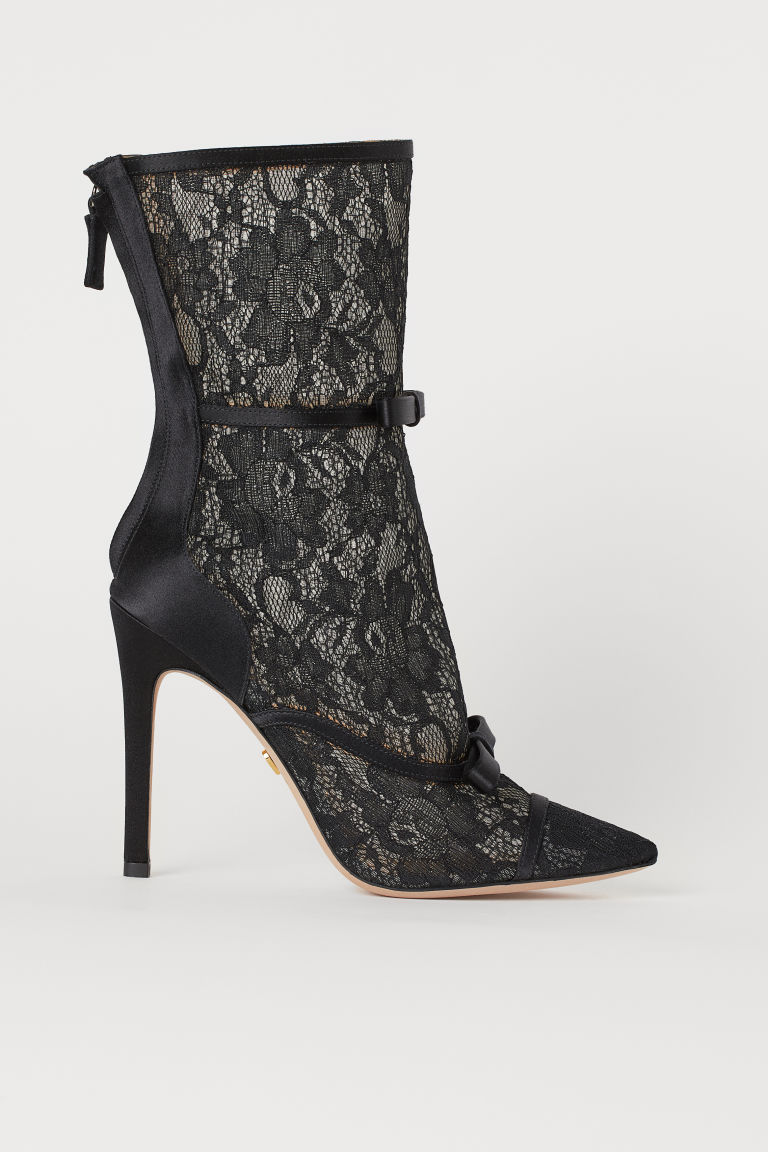 Lace boots - Black - Ladies | H&M