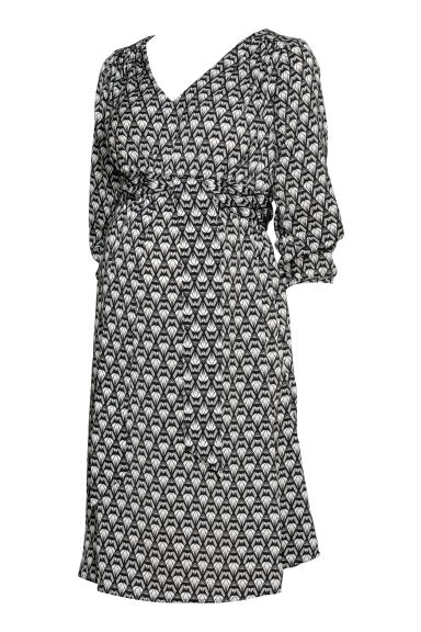 MAMA Patterned dress - Black/Patterned - Ladies | H&M GB