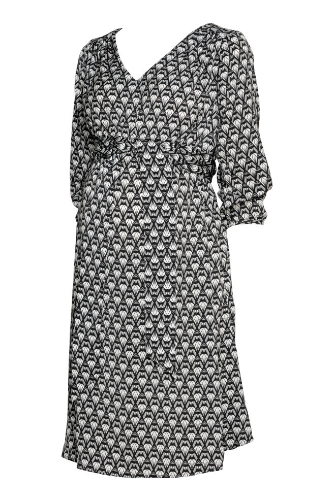 f60bedb3f2f MAMA Patterned Dress - Black patterned - Ladies