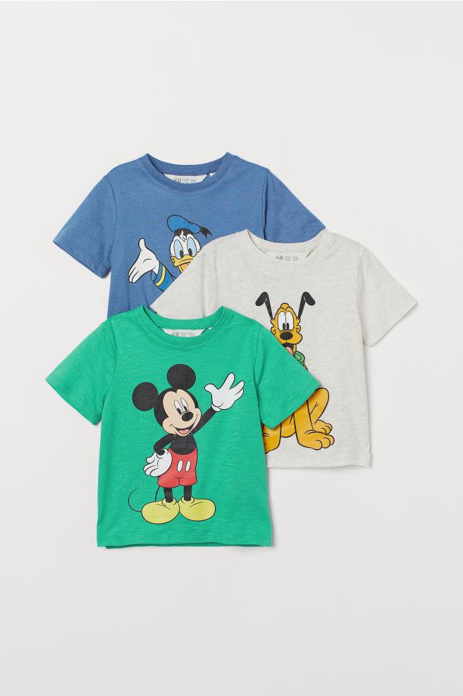 18d09f41e ... 3-pack Printed T-shirts - Green/Disney - Kids | H&M ...