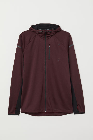 Hooded running jacket - Plum - Men | H&M