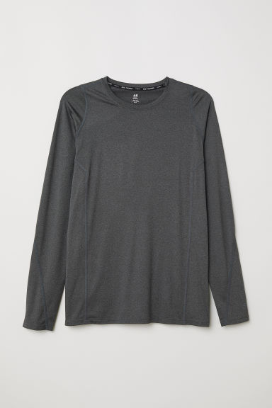 Sports top - Dark grey marl - Men | H&M