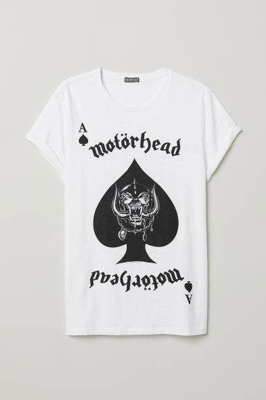 Printed T-shirt - White/Motörhead - Men | H&M