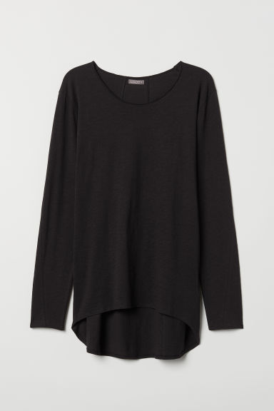 Long jersey top - Black - Men | H&M CN