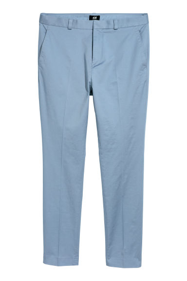 Cotton chinos Skinny fit - Light blue - Men | H&M CN