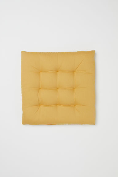 Cotton seat cushion - Mustard yellow - Home All | H&M GB