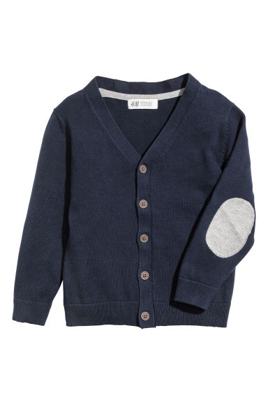 Fine-knit cardigan - Dark blue -  | H&M