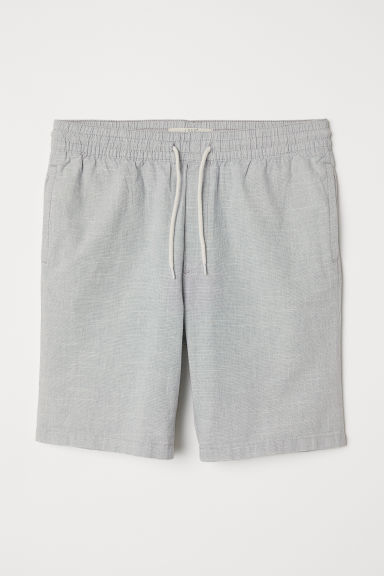 Knee-length cotton shorts - Light grey -  | H&M