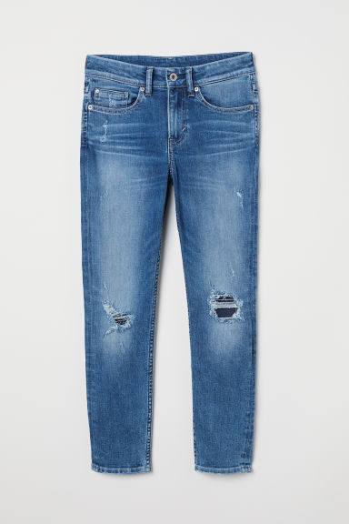 Superstretch Skinny Fit Jeans - 牛仔蓝/破洞 - Kids | H&M CN