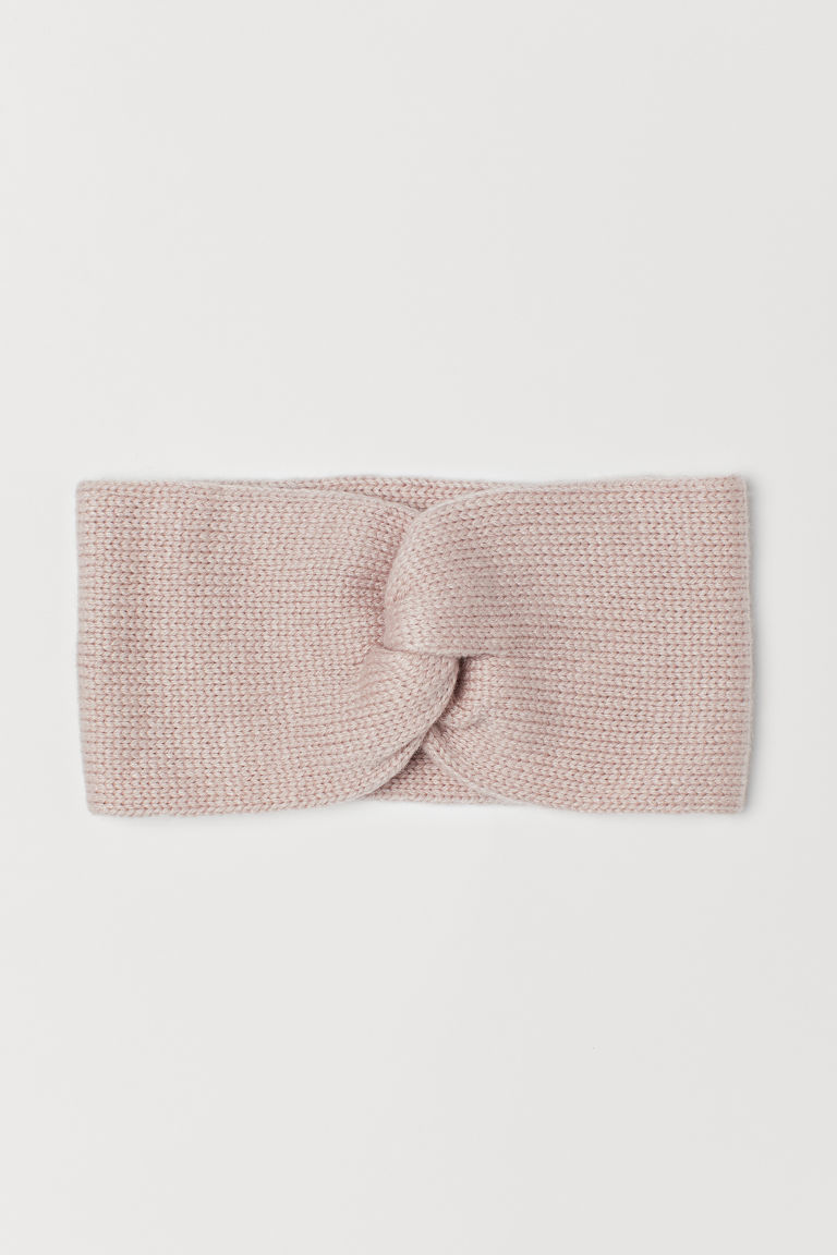 Knitted headband - Powder pink -  | H&M
