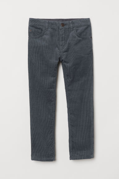 Corduroy trousers - Dark grey - Kids | H&M