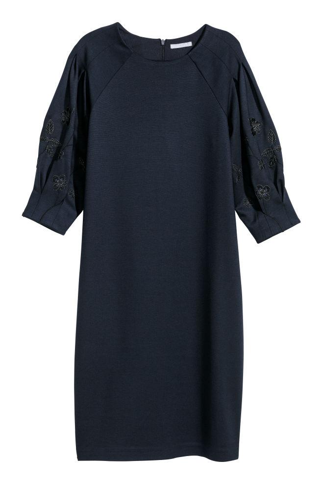 42160b39d Puff-sleeved jersey dress