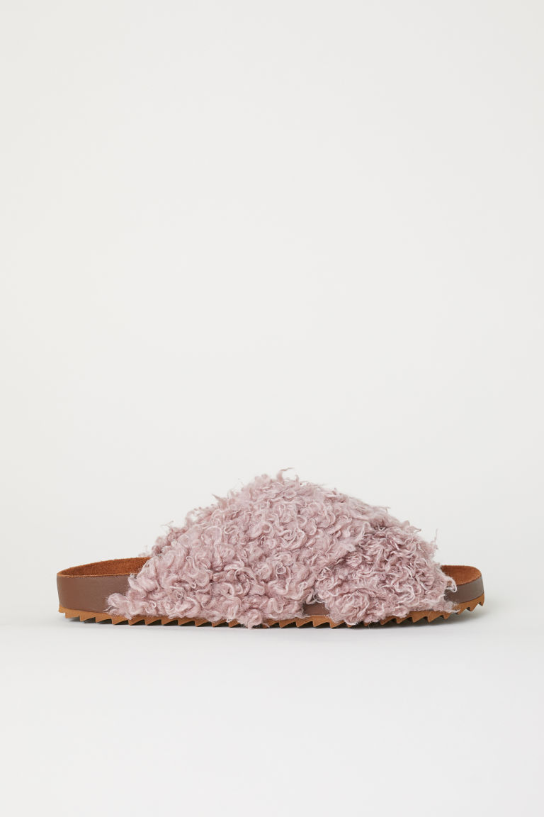 Pile slides - Old rose - Ladies | H&M
