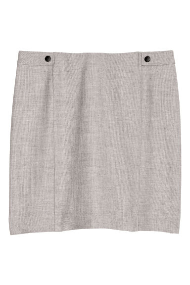 Dressy skirt - Light grey marl - Ladies | H&M CN