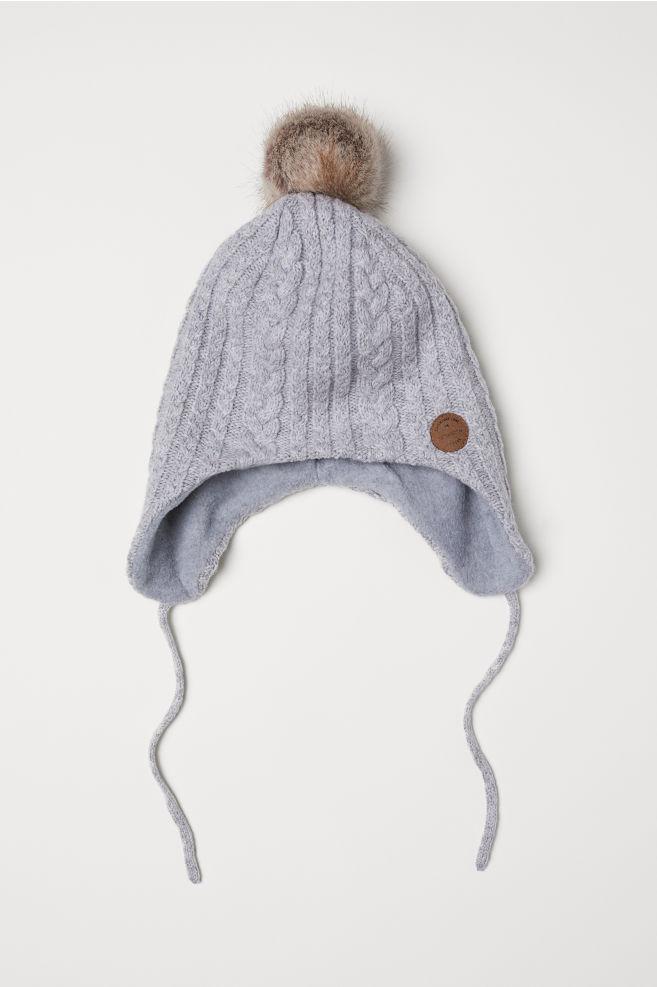 da25f4239fc Cable-knit Hat - Light gray - Kids