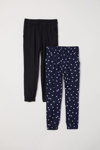 2-pack pull-on trousers - Black - Kids | H&M CN