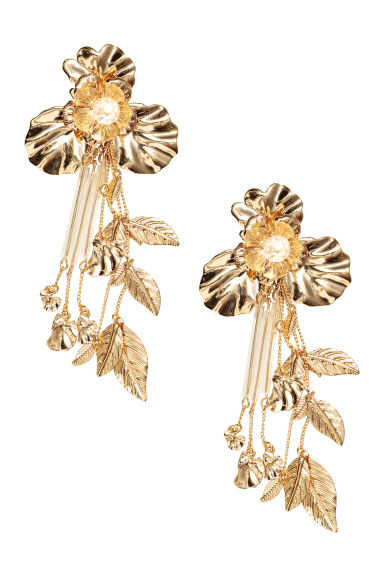 Long earrings - Gold-coloured -  | H&M