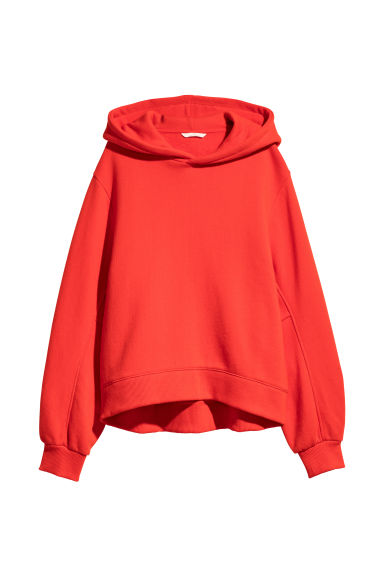 Hooded top - Bright red - Ladies | H&M