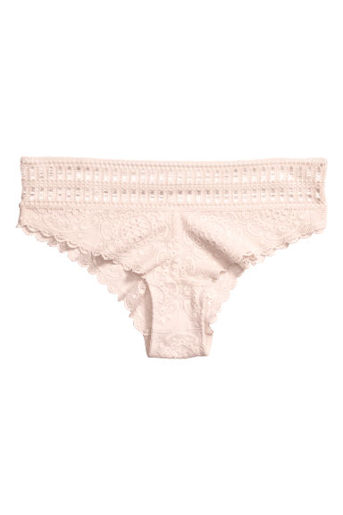 Lace hipster briefs - Light beige - Ladies | H&M GB