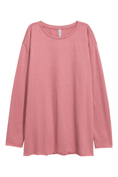 Oversized jersey top - Vintage pink -  | H&M CN