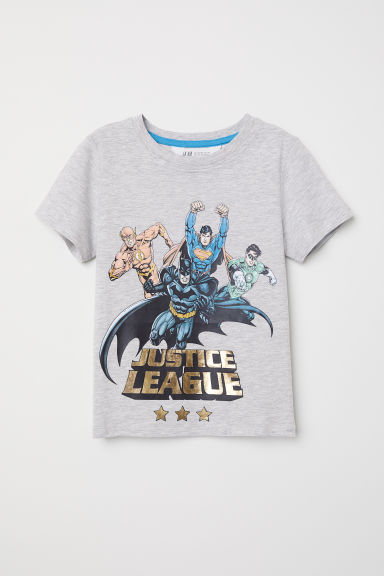 T-shirt con stampa - Grigio mélange/Justice League - BAMBINO | H&M IT