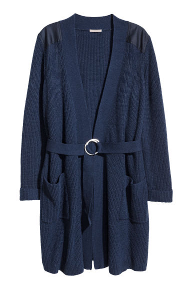 H&M+ Ribbed cardigan - Dark blue -  | H&M