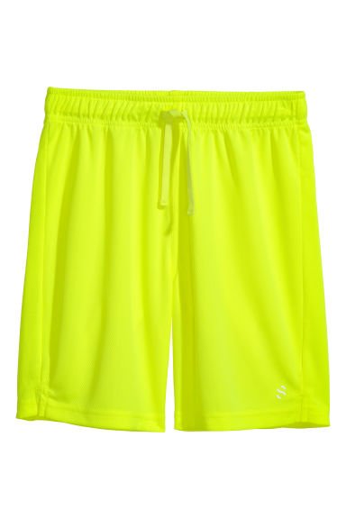 Sports shorts - Neon yellow -  | H&M CN
